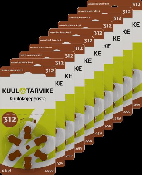 Kuulokojeparisto 312 Pakkauksia 10 Kpl Kuulotarvike