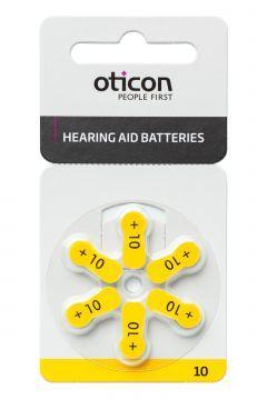Kuulolaiteparisto 10 Oticon